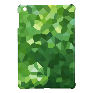 Green Polygon Shape Stained Glass Mosaic Abstract Cover For The iPad Mini
