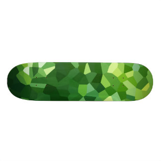 Green Polygon Shape Stained Glass Mosaic Abstract Custom Skateboard