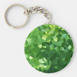 Green Polygon Shape Stained Glass Mosaic Abstract Keychain