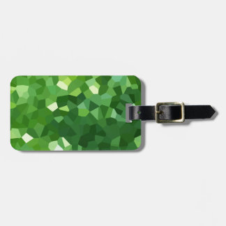 Green Polygon Shape Stained Glass Mosaic Abstract Luggage Tag