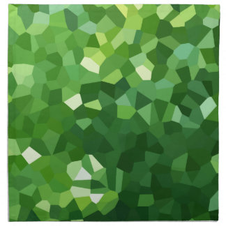 Green Polygon Shape Stained Glass Mosaic Abstract Napkin