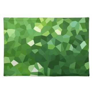 Green Polygon Shape Stained Glass Mosaic Abstract Placemat