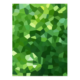 Green Polygon Shape Stained Glass Mosaic Abstract Postcard