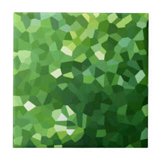 Green Polygon Shape Stained Glass Mosaic Abstract Tile