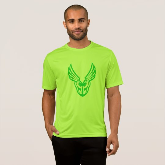 Green PoM logo light colour shirts