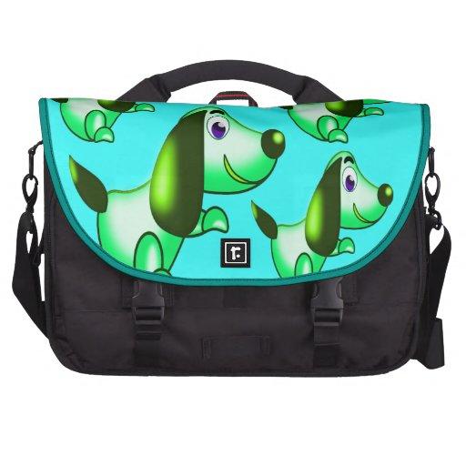 green pooch bag for laptop