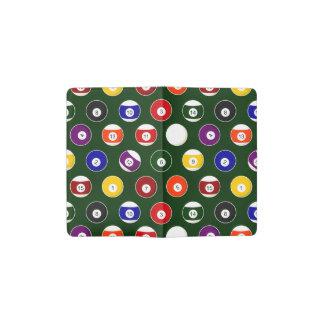 Green Pool Ball Billiards Pattern Pocket Moleskine Notebook