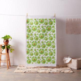 Green Pop Daisy Pattern Fabric