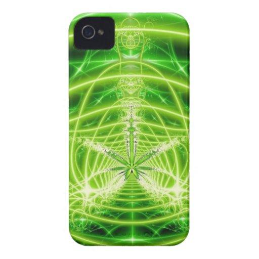 Green Pot Leaf Fractal Case-Mate iPhone 4 Case