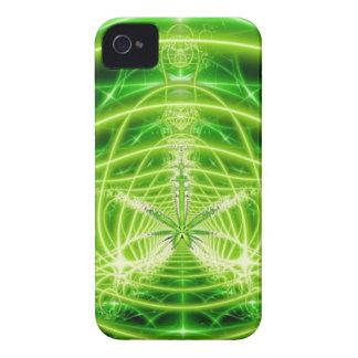Green Pot Leaf Fractal iPhone 4 Covers