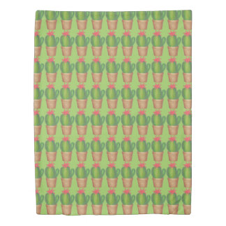 Green Potted Plant Cactus Flower Cacti Garden Bed Duvet Cover