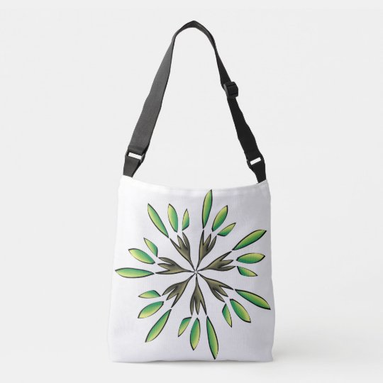 Green power crossbody bag