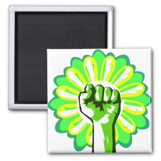 Green Power Refrigerator Magnets