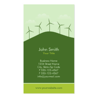 Green Power - Renewable energy companies Business Card