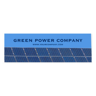 green power - solar panels pack of skinny business cards