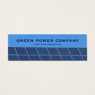 green power - solar panels mini business card