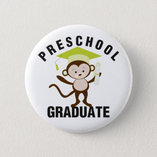 Green Preschool Graduate 2 Inch Round Button