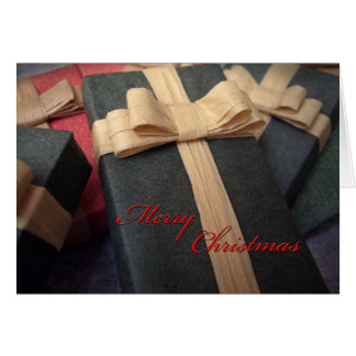 Green Present Christmas Card