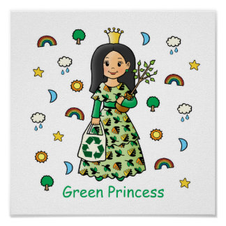 Green Princess Poster