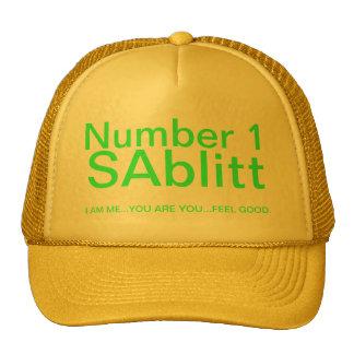 Green print trucker hat