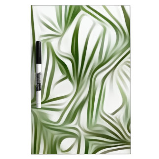 Green prints - green Print green plant Dry Erase Whiteboards