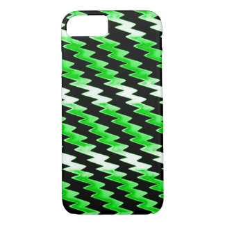 Green Psychedelic Lightning Pattern iPhone 8/7 Case