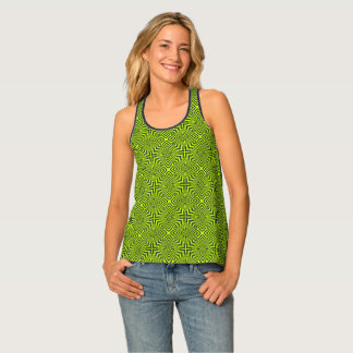 Green psychedelic tank top