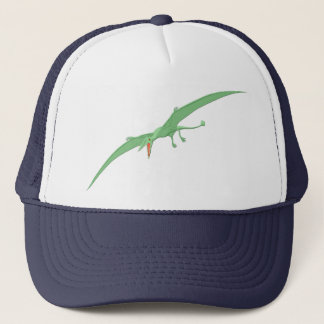 Green Pterodactyl Dinosaur 3 Trucker Hat