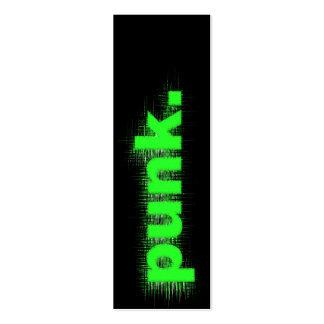 Green Punk Business Card Templates