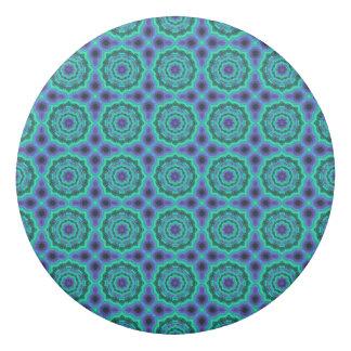 Green, Purple And Blue Mandala Pattern Eraser