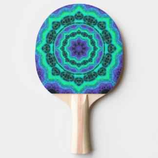 Green, Purple And Blue Mandala Pattern Ping Pong Paddle