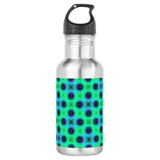 Green Purple Blue Geometric Abstract 532 Ml Water Bottle