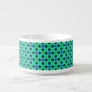 Green Purple Blue Geometric Abstract Bowl