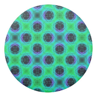 Green Purple Blue Geometric Abstract Eraser