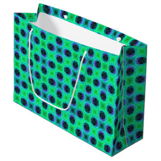 Green Purple Blue Geometric Abstract Large Gift Bag