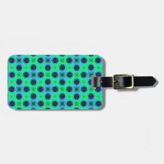 Green Purple Blue Geometric Abstract Luggage Tag