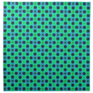 Green Purple Blue Geometric Abstract Napkin