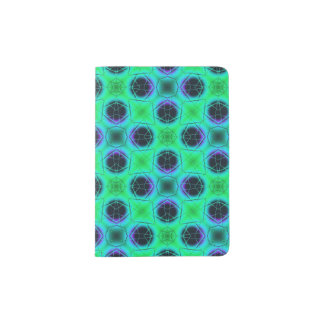 Green Purple Blue Geometric Abstract Passport Holder