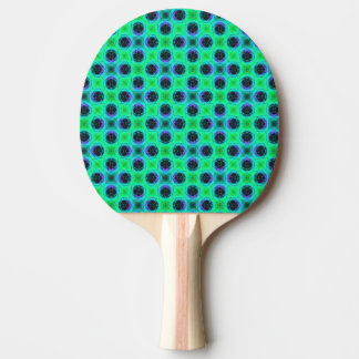 Green Purple Blue Geometric Abstract Ping Pong Paddle