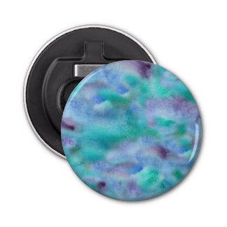 Green-purple bottle opener button bottle opener