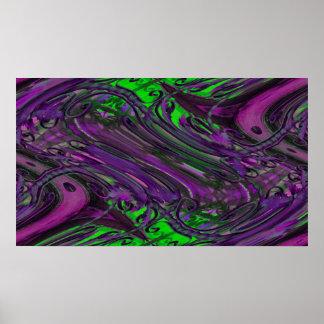 green purple chaos poster