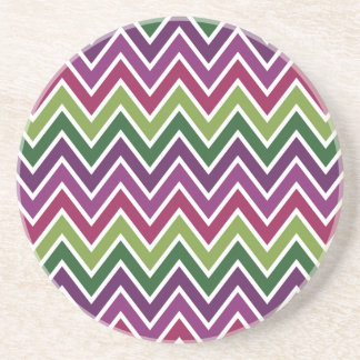 Green & Purple Chevron Stripe Coaster