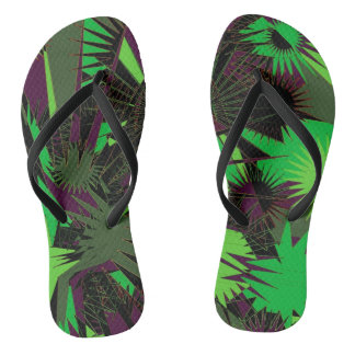 Green/Purple Custom Slim Straps / Flip Flops