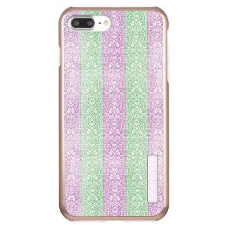 Green Purple Damask Ribbon Candy Lines Kawaii Incipio DualPro Shine iPhone 8 Plus/7 Plus Case