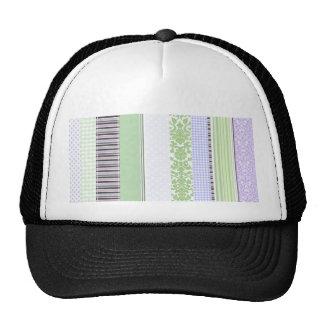 Green & purple girly stripe pattern trucker hat