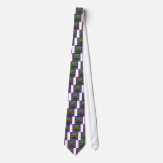 Green-Purple-Gold Peacock Feathers gifts Tie