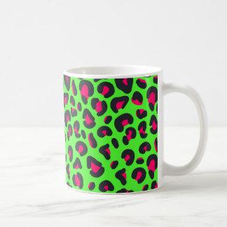 Green Purple Leopard Animal Print Coffee Mug