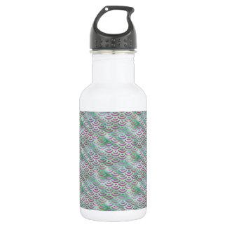 Green Purple Mermaid Pastel Pattern 532 Ml Water Bottle