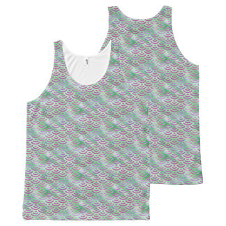 Green Purple Mermaid Pastel Pattern All-Over-Print Tank Top