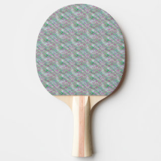 Green Purple Mermaid Pastel Pattern Ping Pong Paddle